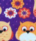 Anti-Pill Fleece Fabric -Sunset Owls