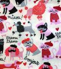 Snuggle Flannel Fabric -Parisian Pets