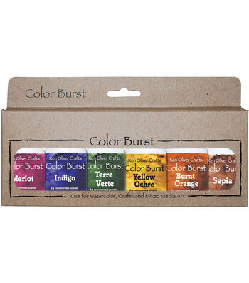 Ken Oliver Crafts Color Burst 6 pk 0.21 oz. Watercolor Powder-Earth Tone