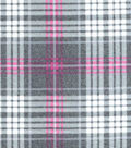 Luxe Flannel Fabric -Madison Pink Heather Plaids