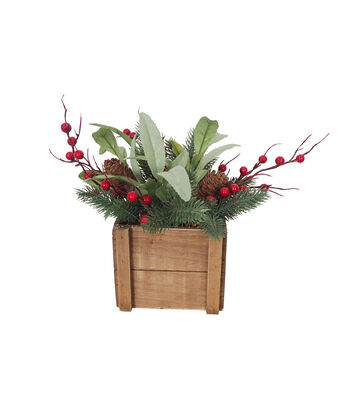 Blooming Holiday Christmas Large Olive Leaf & Berry Arrangement