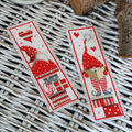 Vervaco Counted Cross Stitch Bookmark Kit-Christmas Gnomes