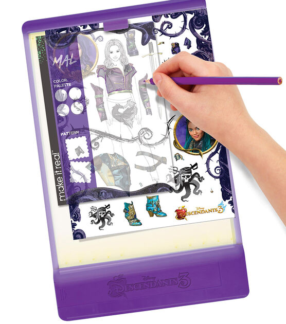 Make It Real Disney Descendants 2 Fashion Design Tracing Light Table Joann