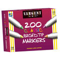 Sargent Art 200 pk Classic Washable Broad Tip Markers-Assorted