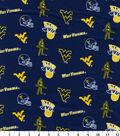 West Virginia University Mountaineers Cotton Fabric 43\u0027\u0027-Blue