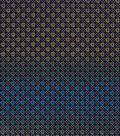 Asian Inspired Cotton Fabric 43\u0027\u0027-Metallic Diamond Dots on Navy