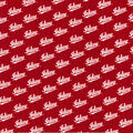 Indiana Hoosiers Cotton Fabric -Script on Red