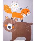 No Sew Fleece Throw Kit 48\u0027\u0027-Woodland Creatures