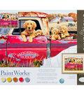 PaintWorks Paint by Number 16\u0027\u0027x20\u0027\u0027 Kit-Golden Ride