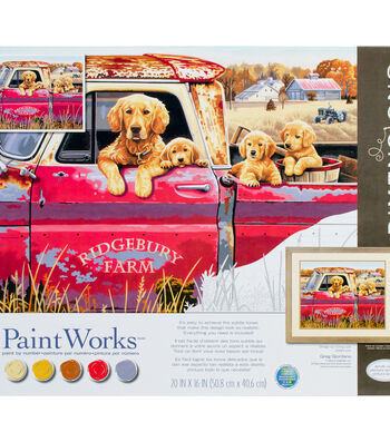 PaintWorks Paint by Number 16''x20'' Kit-Golden Ride
