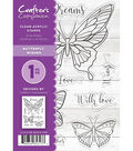 Crafter\u0027s Companion Clear Acrylic Stamps-Butterfly Wishes