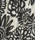 Home Decor 8\u0022x8\u0022 Fabric Swatch-Genevieve Gorder Flower Pops Onyx