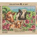 Collection D\u0027Art 16\u0027\u0027x20\u0027\u0027 Needlepoint Printed Tapestry Canvas-Cows