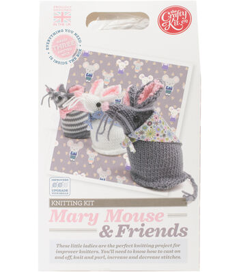 The Crafty Kit Co. Knitting Kit-Mary Mouse