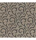 Ophelia Charcoal Scroll Wallpaper