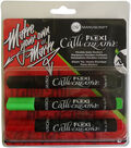 Manuscript Callicreative 3 pk Flexible Italic Markers-Red, Green & Black