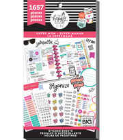 The Happy Planner Girl Value Pack Stickers Super Mom, , hi-res