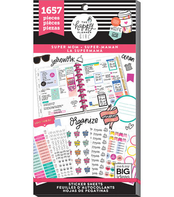 The Happy Planner Girl Value Pack Stickers Super Mom