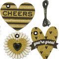 K&Company Gold Heart Gift Tags