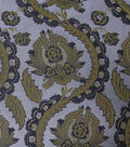 Brocade Fabric -Large Leaf with Silver Lining