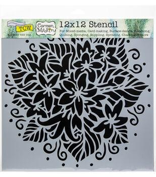 """Crafter's Workshop Template 12""""X12""""-Jasmine Spray"""