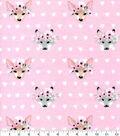 Nursery Flannel Fabric-Hazel Floral Foxes
