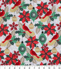 Christmas Cotton Fabric-Cardinal Ornaments