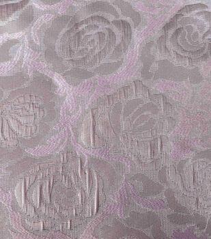 Sew Sweet Metallic Floral Brocade Fabric 58''-Pink