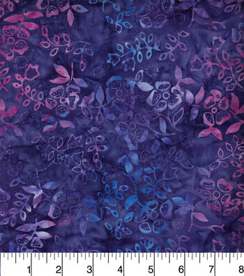 "Legacy Studio Indonesian Batiks Cotton Fabric 44""-Purple Ivy"