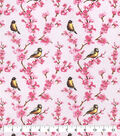 Snuggle Flannel Fabric-Birds Floral