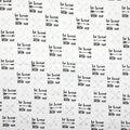 Nursery Cotton Fabric-Black Be Brave Little One on White