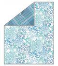 No Sew Fleece Throw 72\u0022-Snowflakes Parnasse