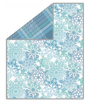 "No Sew Fleece Throw 72""-Snowflakes Parnasse"