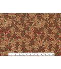Keepsake Calico Holiday Cotton Fabric 43\u0022-Glitter Gingerbread