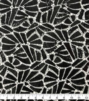 Casa Embellish Netted Sequin Fabric-Black