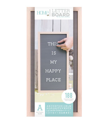 DCWV Home 10''x20'' Oak Gray Letter Board with 1'' White Letters