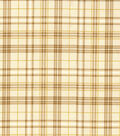 Harvest Cotton Fabric 43\u0022-Glitter Harvest Bounty Plaid