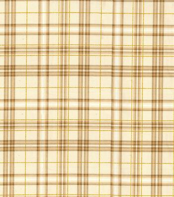"Harvest Cotton Fabric 43""-Glitter Harvest Bounty Plaid"