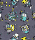 Snuggle Flannel Fabric -Blinky Robots