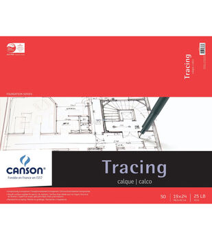 """Proart-Canson Foundation Bound Tracing Pad 19""""X24"""" 50 Sheets"""