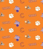 "Clemson University Tigers Cotton Fabric 44""-Orange All Over, , hi-res"