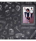 MBI Chalkboard Post Bound Album w/Window 12\u0022X12\u0022-Chalk Design
