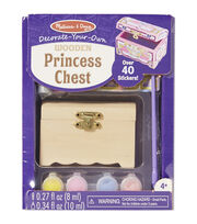 Melissa & Doug Decorate-Your-Own Wooden Princess Chest Craft Kit, , hi-res