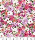 Premium Cotton Fabric 43\u0022-Packed Floral Pink Pearl