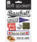 Soft Spoken Themed Embellishments-Baseball