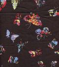Silky Prints Georgette Fabric -Multi Medium Butterfly