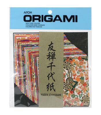 Aitoh Yuzen Wshi Origami Paper 40/Pkg