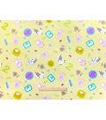 Nursery Flannel Fabric 42\u0022-Rhymes Tossed Animals