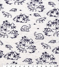 Novelty Cotton Fabric-Small Sketched Dinos