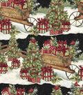 Susan Winget Cotton Print Fabric 43\u0027\u0027-Cart & Packages